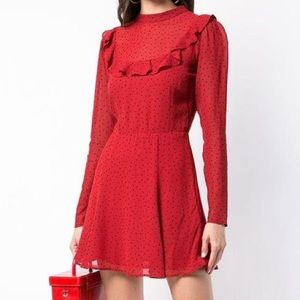 Polka dotted mini dress from Reformation!